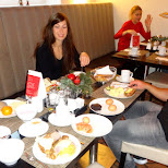 george & leontien at breakfast in Berlin, Berlin, Germany