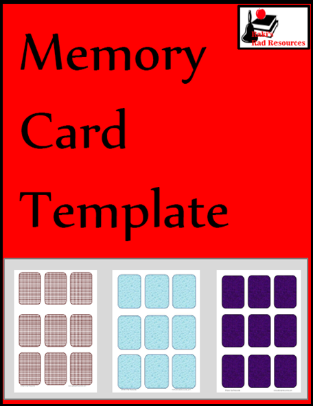 in memory cards templates - classroom freebies memory card template from raki s rad