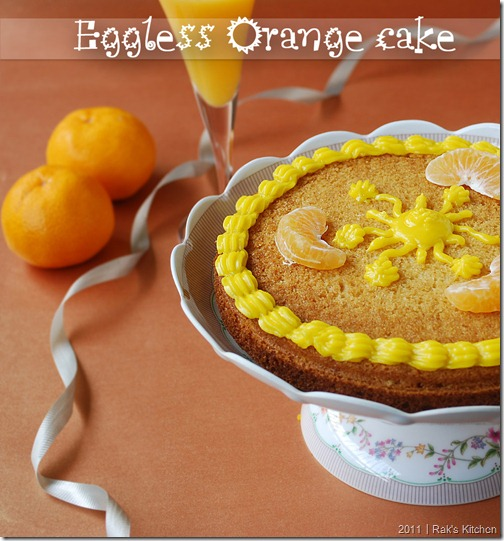 ORANGE CAKE(EGGLESS)