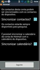 Hotmail-android- sincronizar-contatos