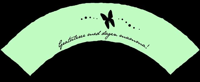 lyserosa morsdag wrapper mint