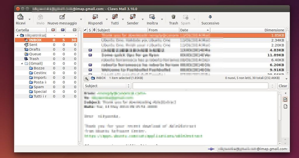 Claws Mail 3.10 in Ubuntu Linux