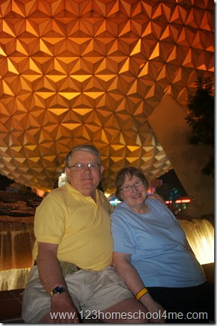 Special time just for grandparents at Epcot Disney World
