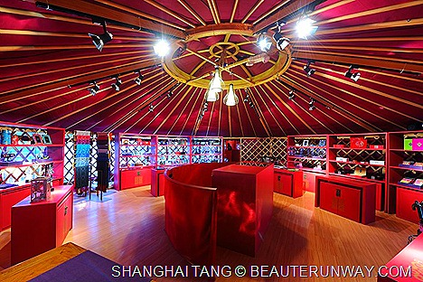 The Mongolian Ger luxurious Shanghai Tang Collections.
