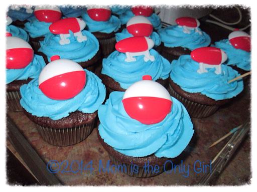 fishing cupcakes for a little friends' birthday