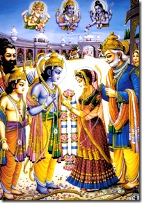 Marriage ceremony of Sita and Rama