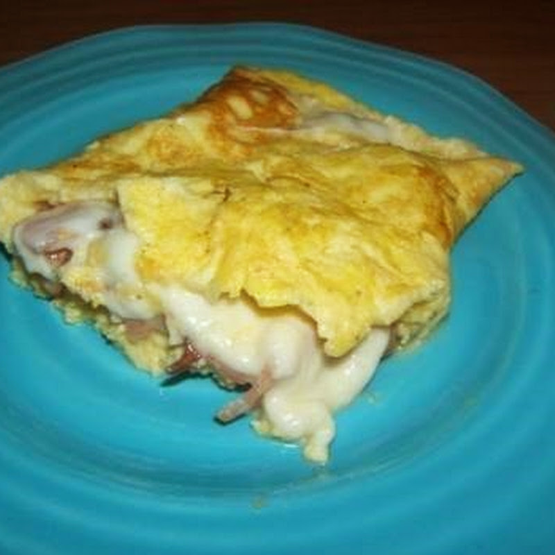 Ομελέτα με  μπέικον και τυρί