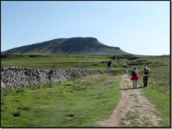 The path to Pen-y-ghent from Horton