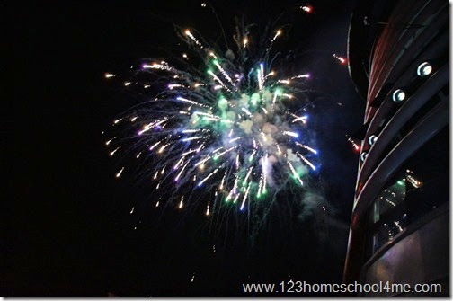 Fireworks at Sea on Disney Cruise Ship