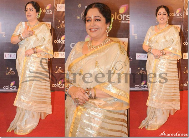 Kirron_Kher_Off_White_Saree