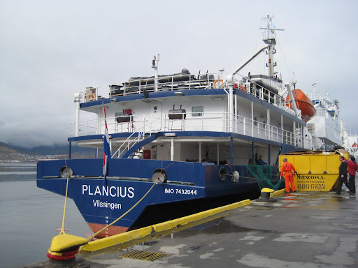 Plancius at Ushuaia's pier - our home for the next 12 days.