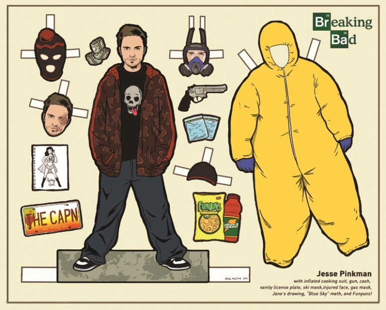 breaking bad jessie pinkerton paper doll