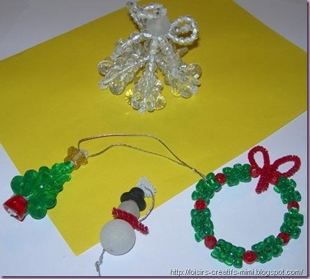 Noël, perles fantaisie