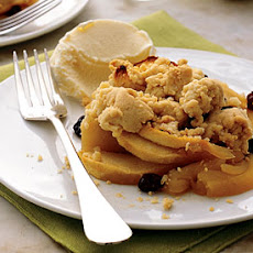Apple-Raisin Crumble with Orange Ice Cream