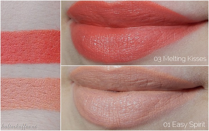 Zoeva Luxe Cream Lipsticks Easy Spirit Melting Kisses Swatches