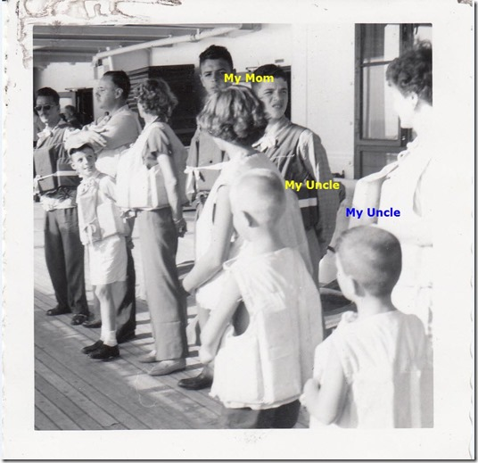 Lifeboat Drill on board the S.S. Brazil July 1952