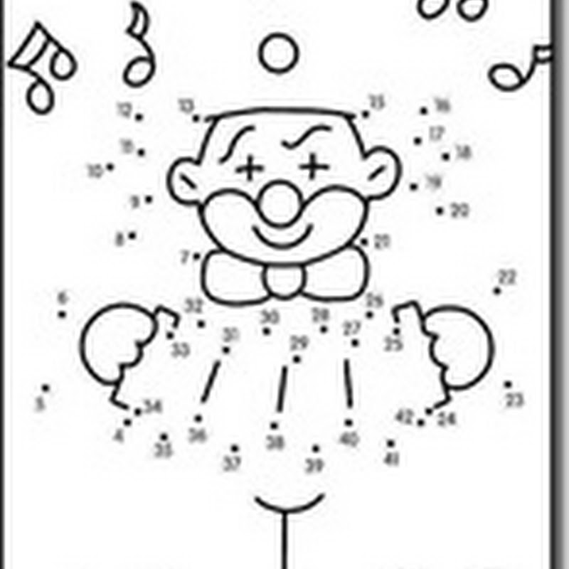 fichas infantiles dibujos para unir con números