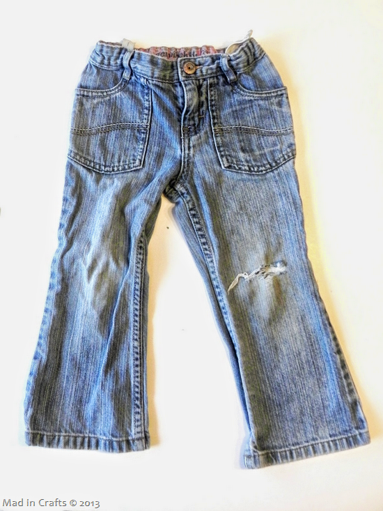 repair torn knee on kids jeans