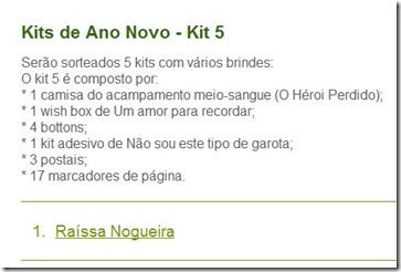 Ganhador Kit 5