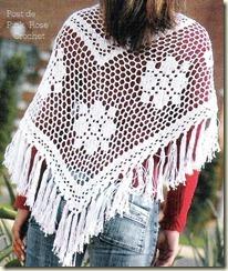 Xale Crochet Shawl - PinkRose