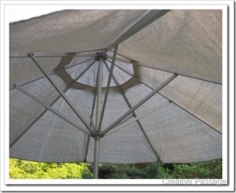 drop cloth umbrella