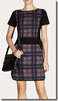 Karen Millen Plaid Print Shift Dress