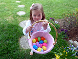A successful Easter egg hunt. (April)