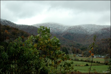 snow on the mountains