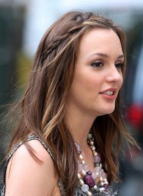 Leighton Meester la chica de gossip girl con trenza