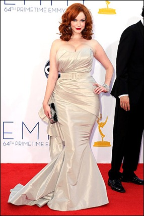 Christina Hendricks Wear Diamond Natural Ruby Earrings & Diamond Bangles