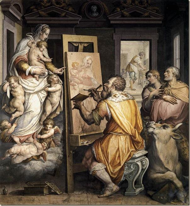 Vasari, St luc peignant la Vierge