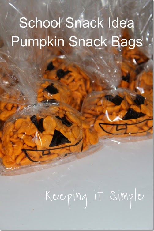 Halloween school snack idea
