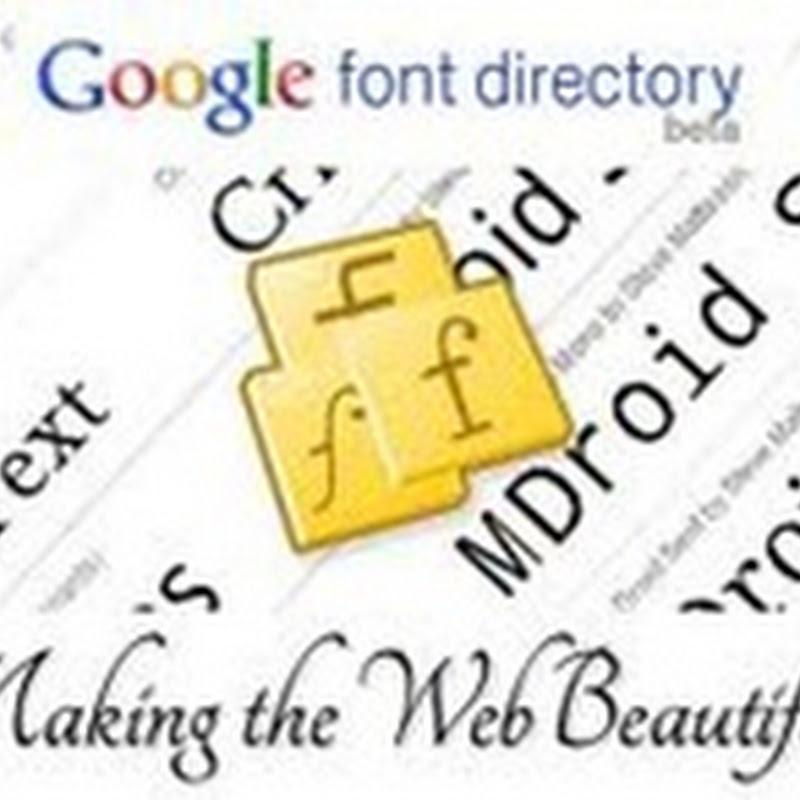 Utilizzare font alternativi per il vostri siti Web con Google Font API.