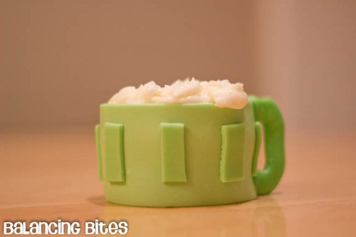St. Patrick's Day Beer Mug Cupcake