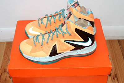 nike lebron 10 ps elite shooting starts pe 5 01 LEBRON X PS Elite Peach Jam AAU EYBL Shooting Stars PE