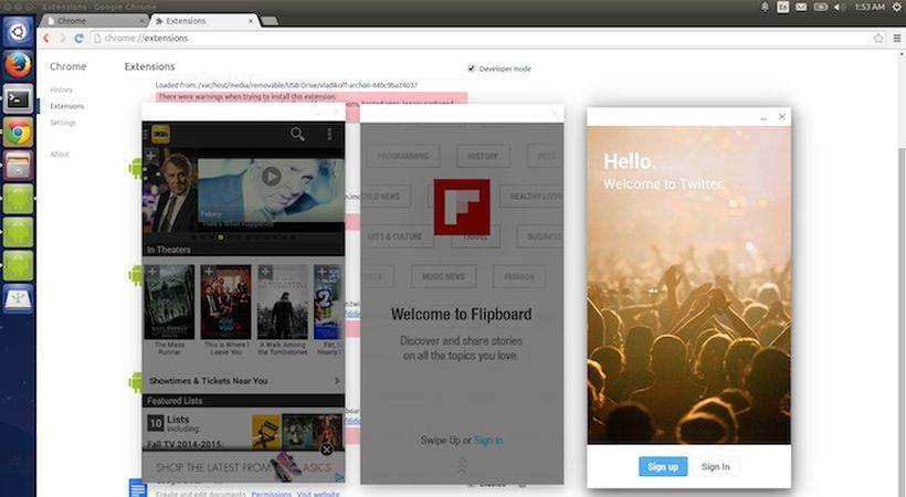 le applicazioni Android in Ubuntu via Chrome
