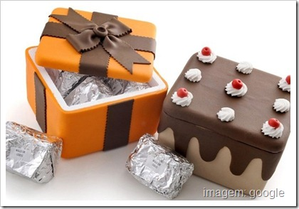 caixa de bolo decorada