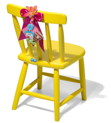 kids' yellow chair