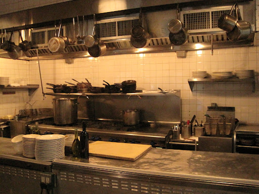 The open kitchen at Barbuto.