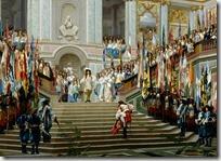 Le Grand Condé reçu par Louis XIV à Versailles