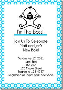 im the boss invite blue