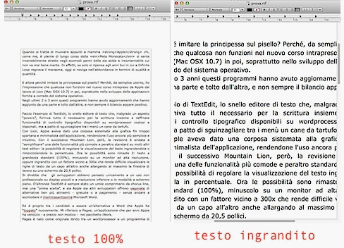 TextEdit Apple 1 e 2