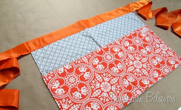 Handmade Vendors Apron Two Pocket with wide sash by Daydream Believers