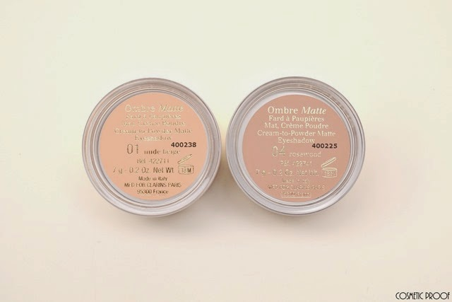 Clarins Ombre Matte Cream to Powder Eyeshadows 04 Rosewood Nude Beige Review Swatches (3)