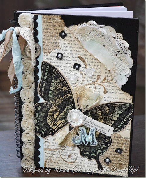 Stampin'Up swallowtail journal