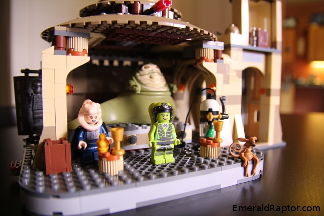 Twi-lek Oola, Bib fortuna, Jabba the Hutt in lego