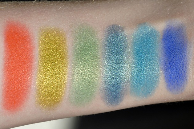 Makeup Geek Eyeshadow Review Z-Palette Colours swatches