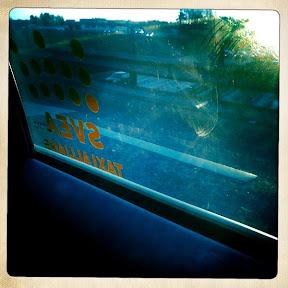 I taxin på väg till Sigtuna