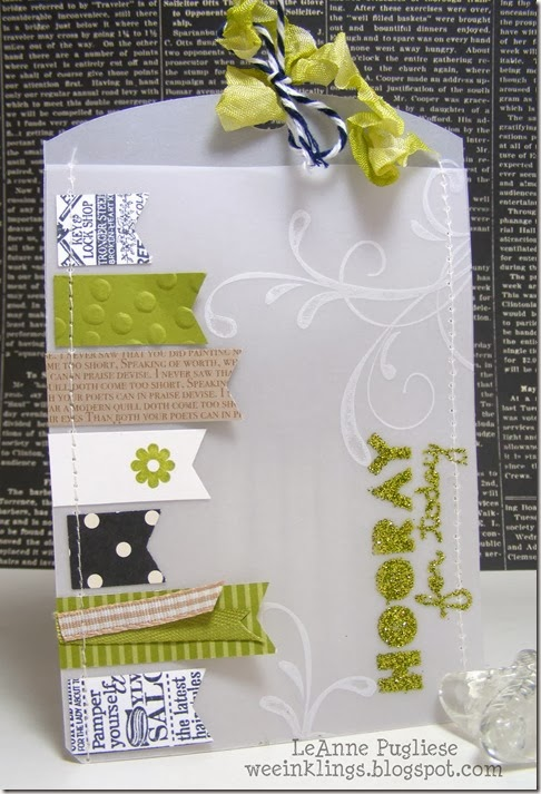 LeAnne Pugliese WeeInklings ColourQ232 Vellum Pocket Geometrical