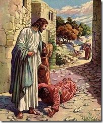 Jesus e o leproso